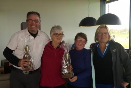 winnaars paaswedstrijd en wedstrijdleiders