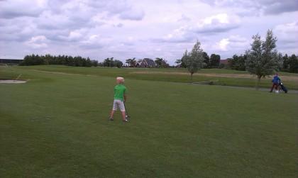 De jongste golfer van onze club. Kyan Goossens, 6 jaar!